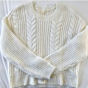 LA Hearts Cropped Cable Knit Sweater from PacSun